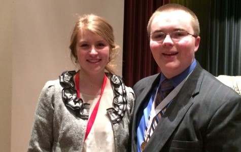 Speech sends two to state