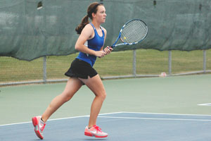 Anna Rahrick is OHS number four in singles.