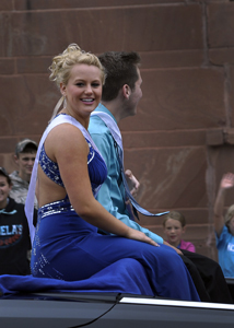 Madison Eggermont and Nicholas Beck at the homecoming parade last Friday afternoon.