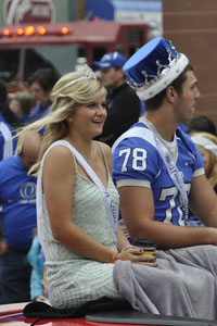 Tess Heyer and Andrew Stelter finish out the homecoming top five as queen and king
