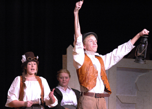 Thomas Borgerding plays Robin Starveling in the fall play