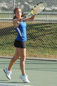 State qualifier Briana Hartmann during regular season