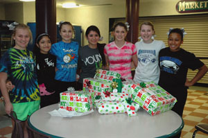 Toys for Tots: Owatonna cheerleaders