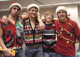 Seniors Ian Langeberg, Logan Langeland, Garrett Olson, and Parker Hoen