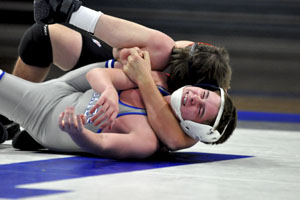 Christian Scheffert wrestles against the cradle