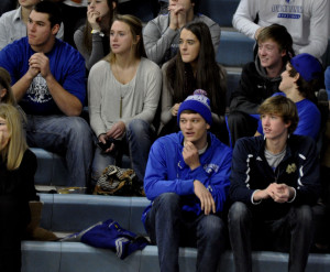 OHS students come to cheer on the Girl Basketball team last Saturday