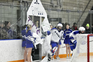 Cheerleaders support OHS Hockey players