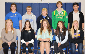 Top 5 Queen Candidates: Quinn Reinhard, Shelby Kern, Kaeli Domino, Holly Bloomenrader, Peyton Noble Top 5 King Candidates: Parker Hoen, Tyler Vogt, Brody Dalland, Zac Shaver, Ryan Huang