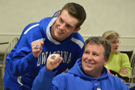 Luke Wanous and Doug Wanous with their rings