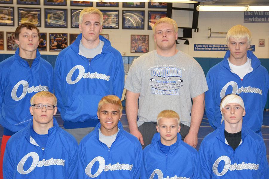 Front Row: Tyler Sorenson, Brenden Buryska, Peyton Robb and Tanner Cole Back Row: Brandon Moen, Hunter Jirele, Spencer Sorenson and Tyler Vogt