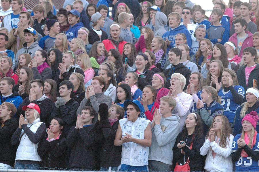 Student Section led by Evan Koch