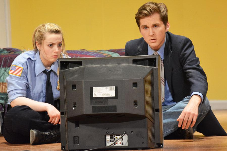 Jessica Friedman as Billy Dwyer and Nick Beck as Eric Sheridan