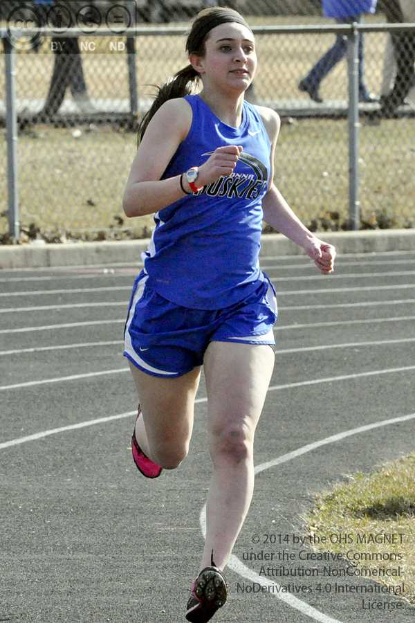Sydney Kasper placed first in girls 1600 meter run