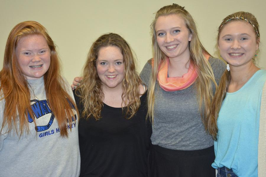 SHOC officers Jessica Sawyer, Michala White, Lauren Johnson and Paige Janka