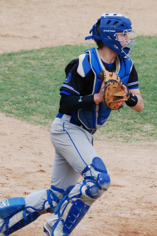 Sophomore Alec Holcomb looks for a throw