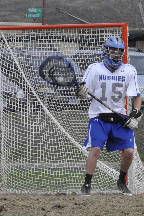 Senior Scott Swenson in goal