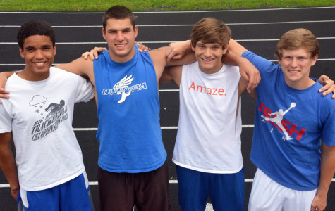 Boys track and field state qualifiers: seniors Andrew Stelter and Logan Langeland and juniors Zae Lafaive and Matthew Kingland