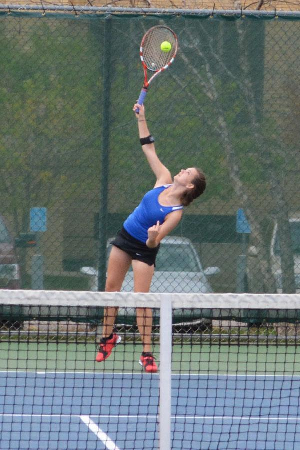 Tessa Rahrick serves the ball