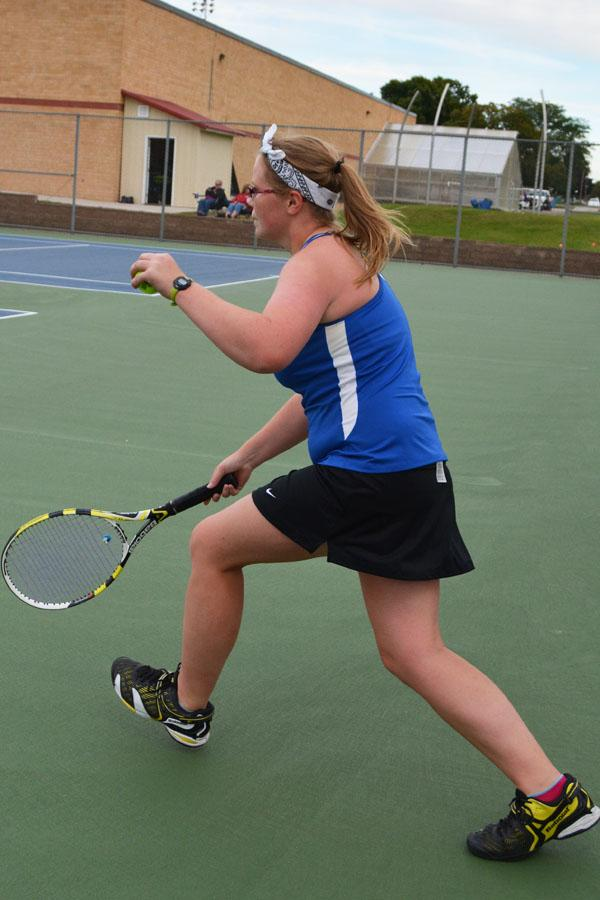 Brittney Stockwell taking the ball