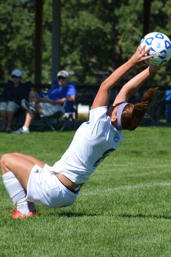 Toria Koch does a flip throw