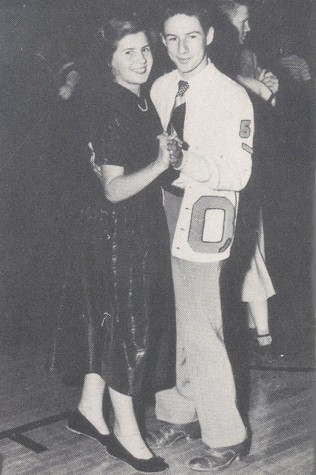 Check out that Letter Sweater-1950 Homecoming dance