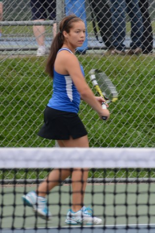 Senior Briana Hartmann returns to the state tennis tournament for the third and final time