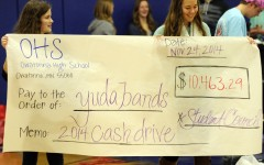 Student Council presents the check for Yuda Bands