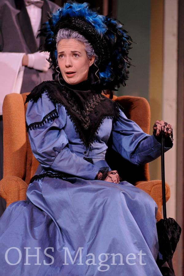 "Ella Rasp plays Lady Bracknell, who is said to be ""the most quotable character in the play"""