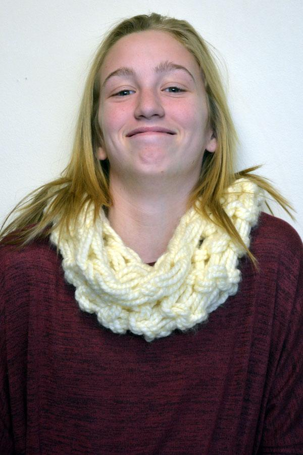 """Freshmen Maddy Kuck is thankful for """"food and sports"""""""
