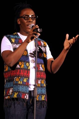 Senior Tlotlo Lesetedi does spoken word for his talent
