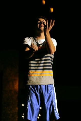 Senior Owen Davis juggles oranges for his talent
