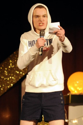 Junior Matt Reinhard sang for his talent