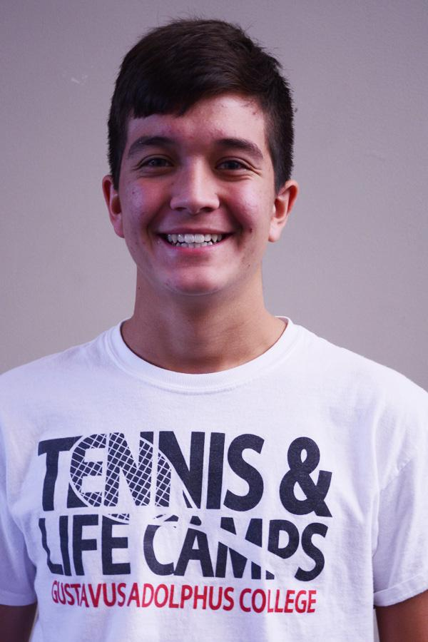 """Sophomore Noah Velasquez is thankful for """"my family and friends"""""""