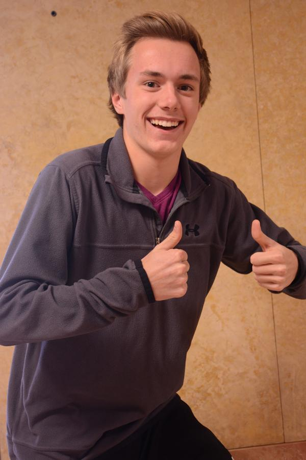 """Sophomore Brice Lauwers is thankful for """"Chicken"""""""