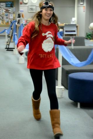 Junior Karissa Hilstad, winner of the first ho-ho-bingo