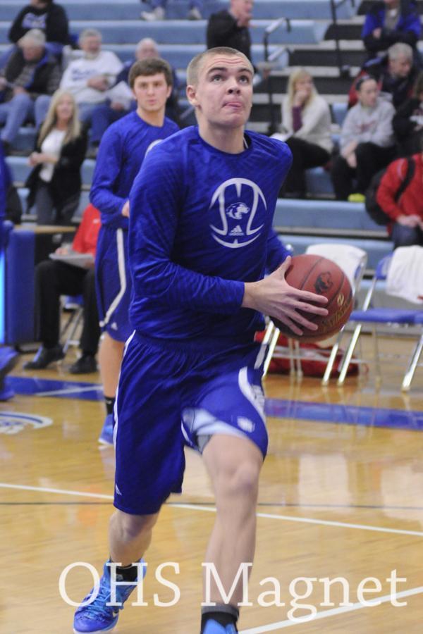 Daniel Boubin going for a shot