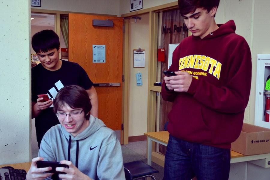 OHS students Jacob Beckmann, Dominic Rocha, and Ethan Cords