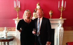 Margo McKay with her father, her special guest at the White House ceremony