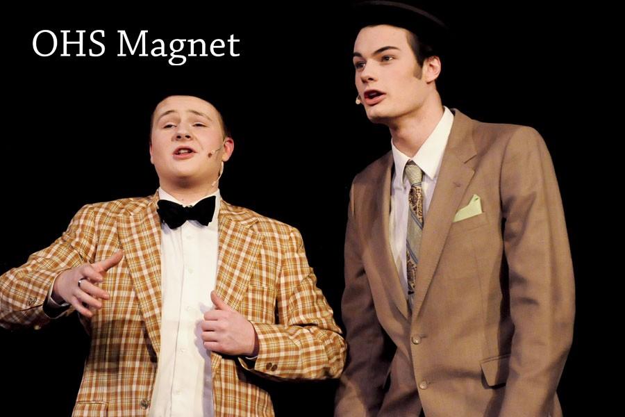 Nicely- Nicely Johnson (Luke Berkley) and Benny Southstreet (Thomas Donlon) sing Guys and Dolls