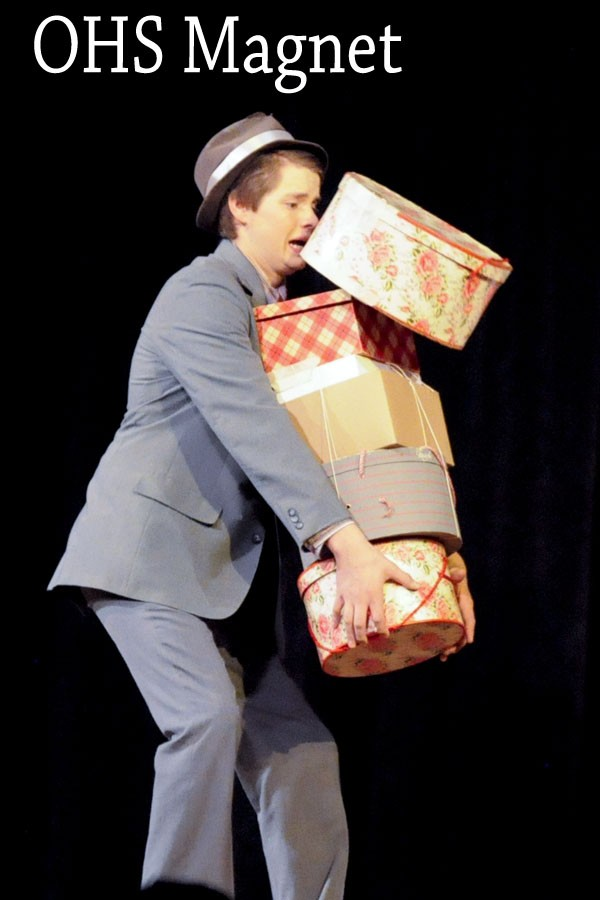 Two Tone Timmy (Tyler Kain) struggles to please his Doll Vivian Darlyn (Jenna Rhodes) as Guys and Dolls is being sung