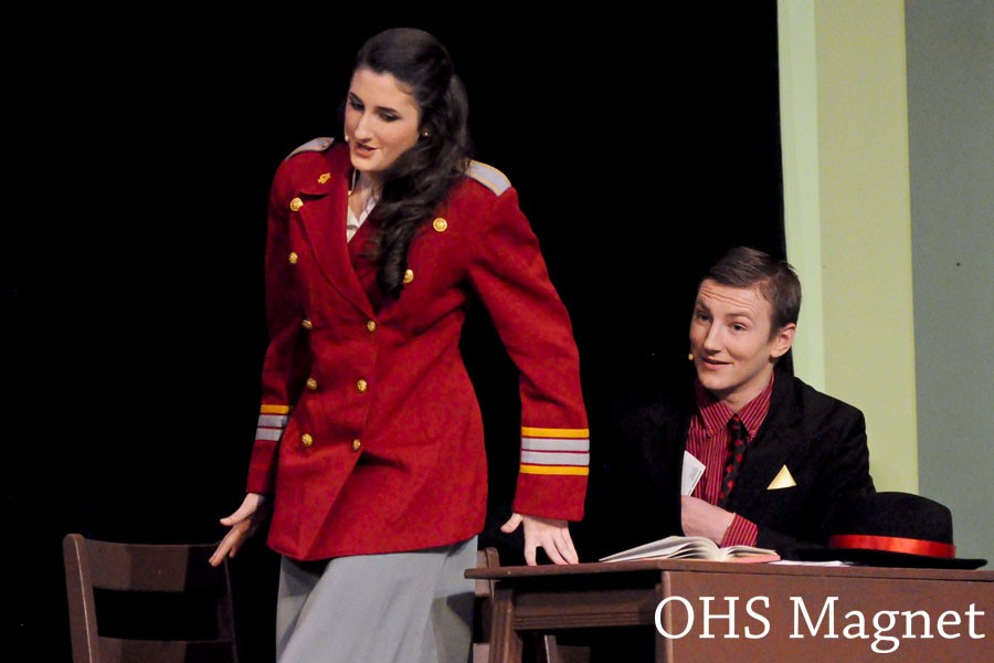 Sara (Alyssa Crum) evades Sky Mastersons (Andrew Peterson) subtle plays for her affection