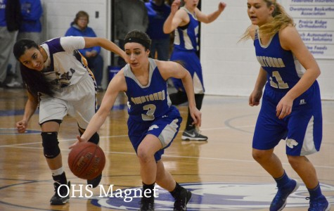 Sydney Kasper takes the ball down the court