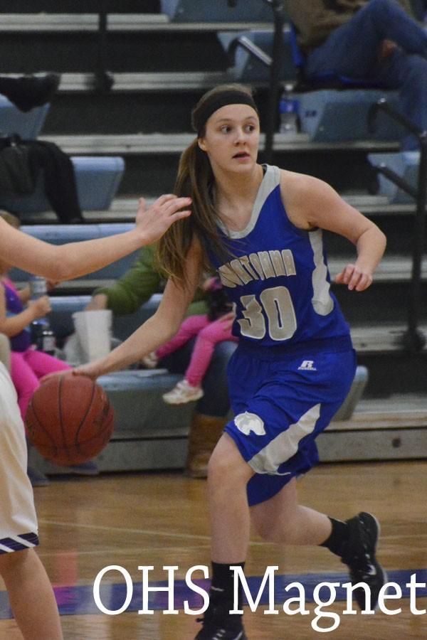 Jenna Zeman dribbles the ball