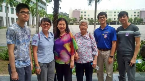 Haaken Bungum (second from right) with his family in Singapore.