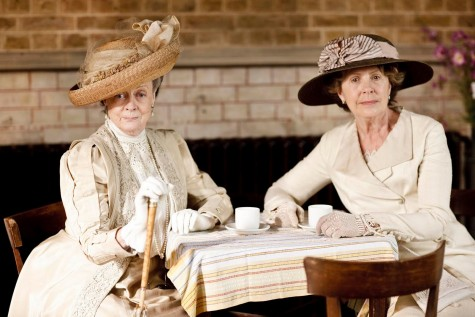 Press released photo PBS. Countess dowager Lady Violet Crawley and Isobel Crawley