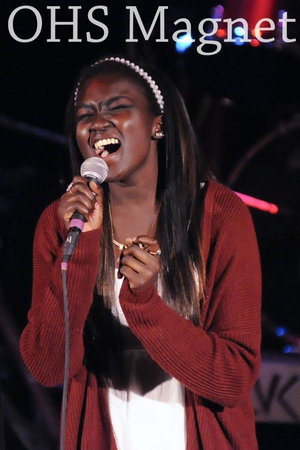 Senior Barameer Okumu belts a song close to her heart, Tattooed Heart by Ariana Grande