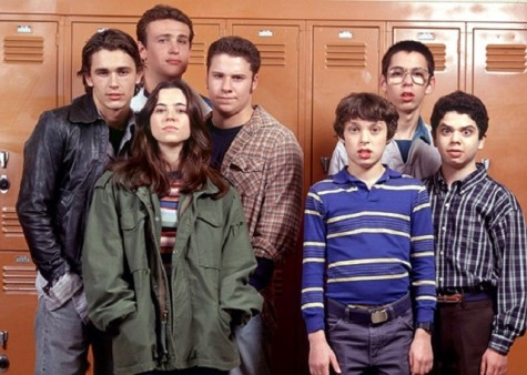 The ensemble cast of Freaks and Geeks Press Released Photo