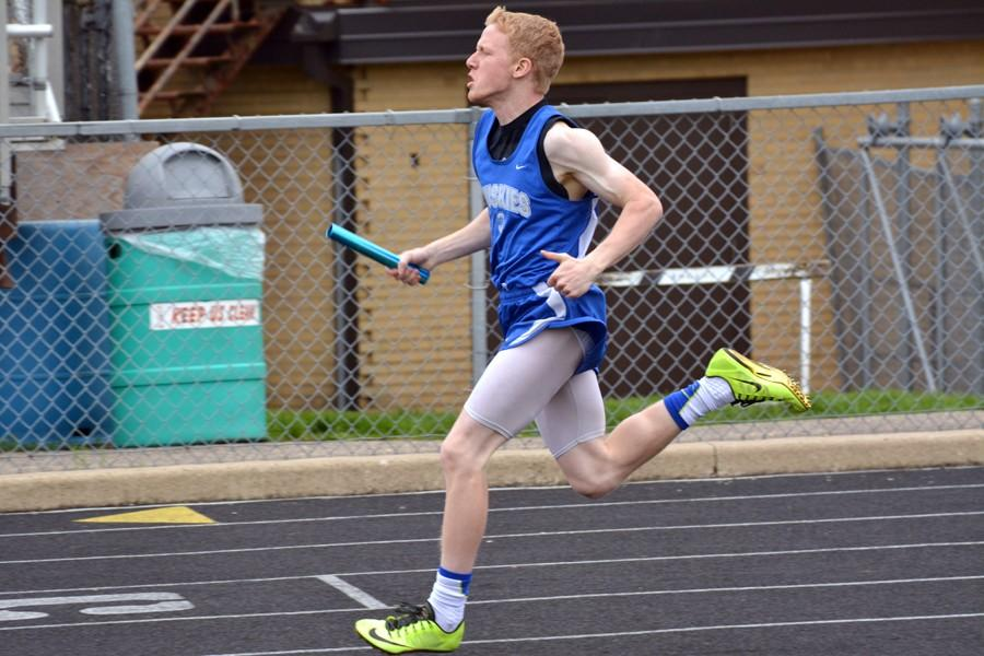 Jacob Zabel in the relay race