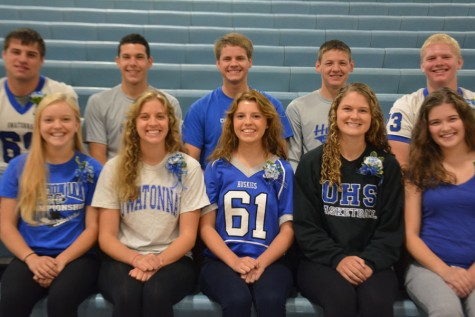 Front Row: Hannah Cochlin, Emma Smith, Maria Golberg, Zoe Kienholz and Grace McClintock Back Row: Austin Abbas, Ryan Guenther, Tyler Kain, Joe Belina and Lucas Arndt