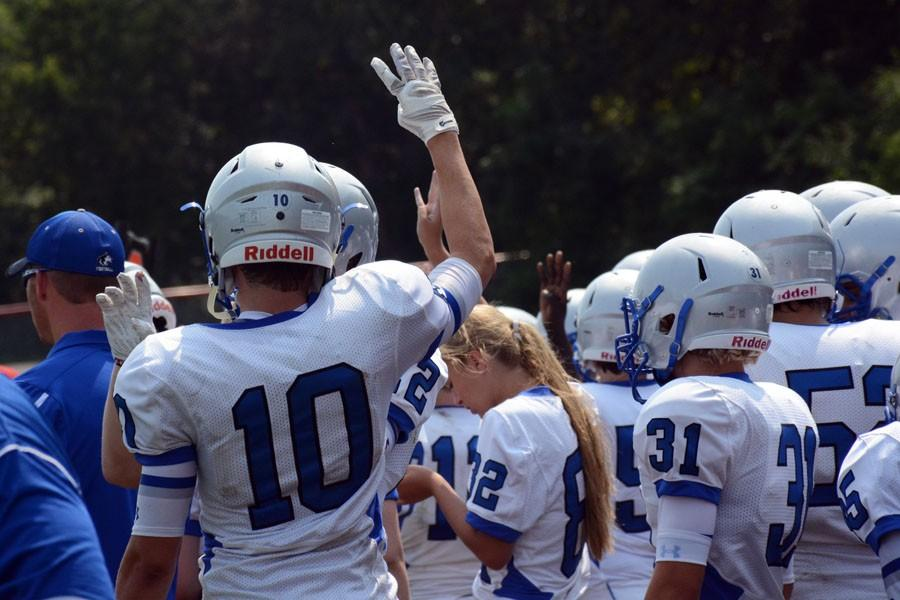 Owatonna Football getting ready for the game